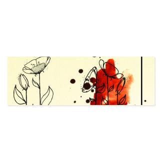 Flores enturbiadas, rojas tarjeta de negocio