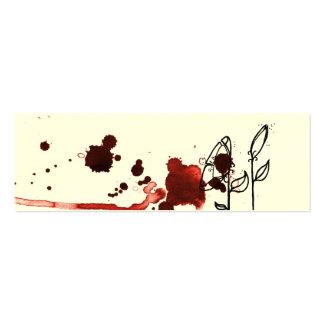 Flores enturbiadas, rojas tarjeta de visita