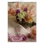 Flores especiales del día tarjeta de felicitación