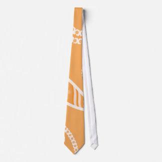 Flores estilizadas anaranjadas corbata personalizada