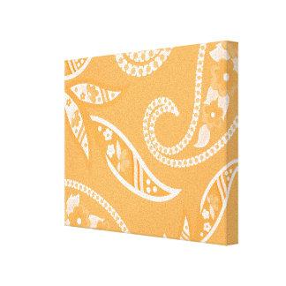 Flores estilizadas anaranjadas impresion en lona