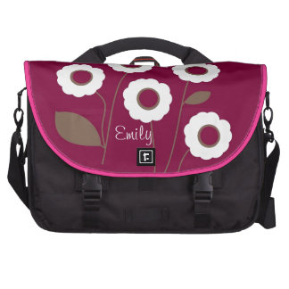 Flores estilizadas, en bolsos adaptables bolsas para portátil