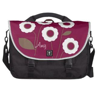 Flores estilizadas, en bolsos adaptables bolsa de ordenador
