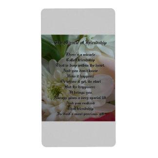 Flores Etiqueta De Envío