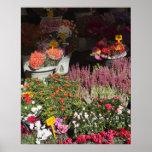 flores exhibidas para la venta en el de Campo Póster