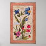 Flores exóticas con los insectos impresiones