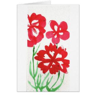 Flores falsas de Marimekko Tarjeta De Felicitación