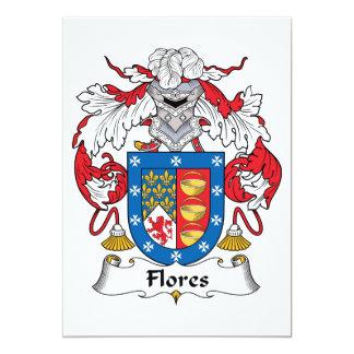 Flores Family Crest Card