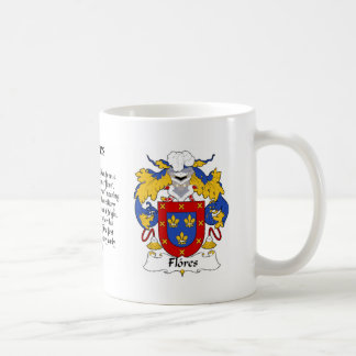 Flores Family Crest cup Classic White Coffee Mug