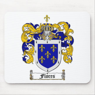 FLORES FAMILY CREST -  FLORES COAT OF ARMS MOUSE PAD