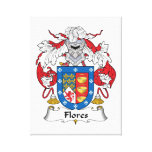 Flores Family Crest Gallery Wrapped Canvas