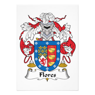 Flores Family Crest Invitation