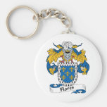 Flores Family Crest Keychains