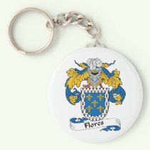 Flores Family Crest Keychain