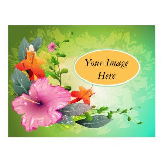 Flores fantásticas tarjeta postal