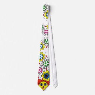 """""""Flores felices """" Corbata Personalizada"""