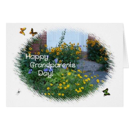 Flores felices de la entrada del Día-Jardín de los Tarjeta