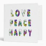 Flores felices de la paz del amor
