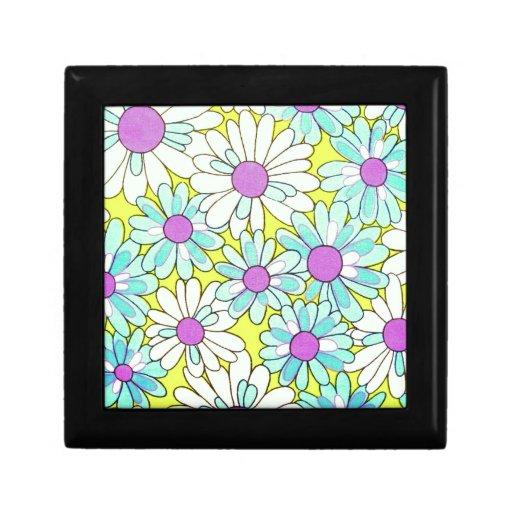 Flores felices de la primavera cajas de recuerdo