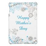 Flores felices del azul del día de madre