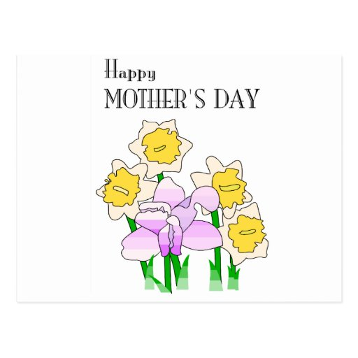 Flores felices del día de madres 4 postal