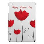 Flores felices del rojo del día de madre