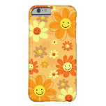 Flores felices funda para iPhone 6 barely there