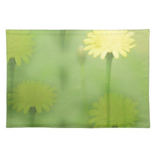 Flores felices mantel individual
