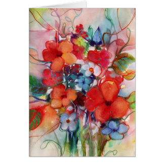Flores felices • Michelle Abrams - tarjeta