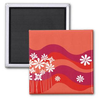 """Flores felices"" (naranja) por Cheryl Daniels Iman Para Frigorífico"