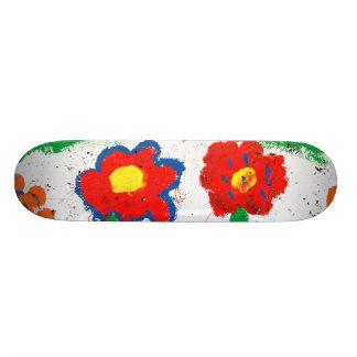 Flores felices tabla de patinar
