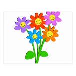 Flores felices postales