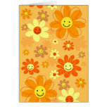 Flores felices tarjetas