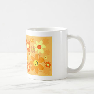 Flores felices taza