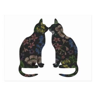 Flores felinas postal