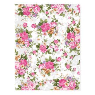 Flores femeninas elegantes hermosas de los rosas d postal