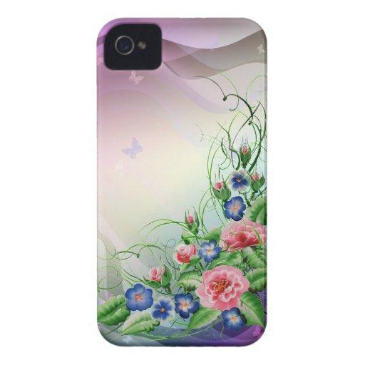 Flores finas carcasa para iPhone 4