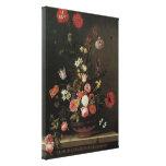 Flores florales barrocas de la vida del vintage aú impresiones de lienzo