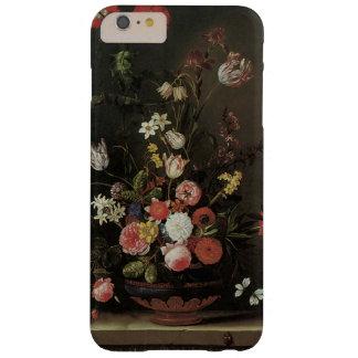Flores florales barrocas de la vida del vintage funda para iPhone 6 plus barely there