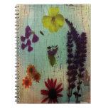 flores, florales, cuaderno de la foto