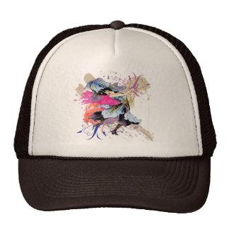 Flores florales de hadas del arte abstracto del gorras de camionero