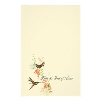 Flores florales de la fauna de los pájaros del  papeleria de diseño