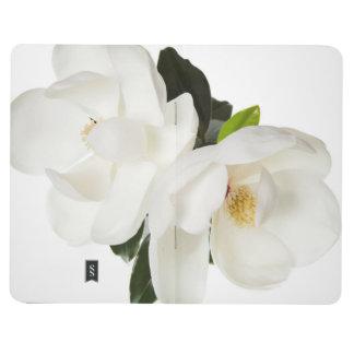 Flores florales de la magnolia de las magnolias cuadernos grapados