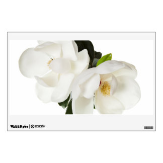 Flores florales de la magnolia de las magnolias vinilo decorativo
