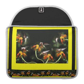 Flores florales del animal de la fauna de los funda para macbook pro