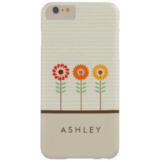 Flores florales lindas de Sun - elegante natural Funda De iPhone 6 Plus Barely There