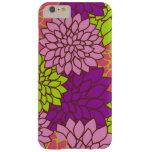 Flores florecientes de la dalia - verde púrpura funda de iPhone 6 slim