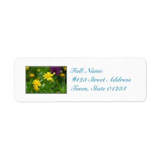 Flores florecientes del Coreopsis Etiquetas De Remite