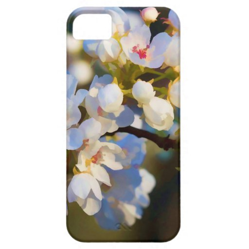 Flores florecientes pintados de la pera de iPhone 5 protector