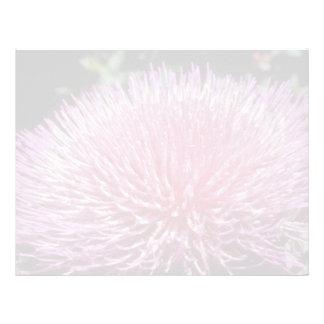 Flores florecientes rosadas de la alcachofa (Cynar Plantilla De Membrete